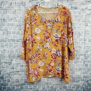 ♡10/$30♡ absolutely famous floral blouse (1230)